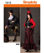 Simplicity 1819 Misses' Steampunk Victorian Era Costumes Pattern 14-22 - $12.99