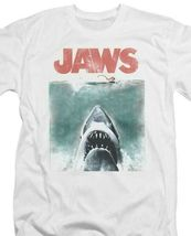 Jaws classic original movie poster retro 70s vintage graphic t-shirt UNI726 image 3
