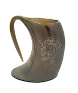 Game of thrones Dragon symbol Lannister viking drinking horn mug groomsm... - $26.46