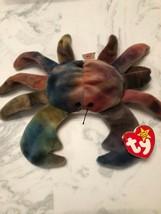 Fantastic TY Beanie Baby CLAUDE the crab 1996 PVC, Waterlooville Hants Handmade. - $1,500.00