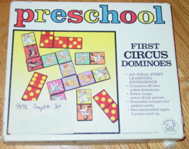 PRESCHOOL FIRST CIRCUS DOMINOES GAME AMERICAN PUBLISHING #7022 COMPLETE  - $20.00