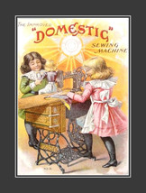 "11x14"" Cotton Canvas Print, Domestic Sewing Machines, Advertisement, Ear... - $23.99"