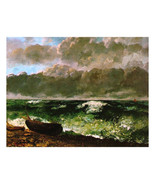 """11x14"""" Cotton Canvas Print, Stormy Skies, Clouds, Ship, Ocean, Waves - $23.99"""