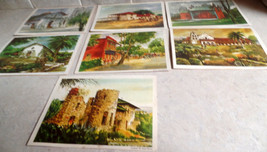 Set of 7 art prints, featuring California missions and other landmarks.  Publish - $20.99