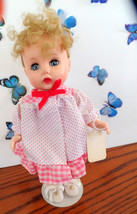 Vintage R & B hard plastic, bent-knee walker doll.  She has pretty blond... - $34.99