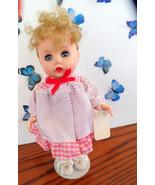Vintage R & B hard plastic, bent-knee walker doll.  She has pretty blond... - $34.99