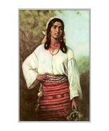 "11x14"" Cotton Canvas Print, Gypsy Girl, Thedor Aman, 1884, Romania - $23.99"