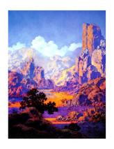 "11x14"" Cotton Canvas Print, Arizona, 1950, Maxfield Parrish, Desert, Lan... - $23.99"