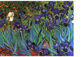 """11x14"""" Cotton Canvas Print, Purple Irisies, Saint Remy, France, c.1889, ... - $23.99"""