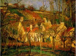 "11x14"" Cotton Canvas Print, Cammille Pissarro, Red Roofs, Corner of Vill... - $23.99"