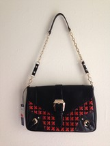 REBECCA MINKOFF WOVEN Black And Red/ Orange Purse Bag Leather - NWT $298 - $185.00