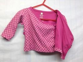 TEA Collection Infant Pink w Beige Floral Design Shirt Sz 3-6 mo image 2