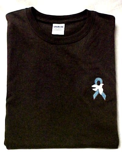 Ovarian Cancer Teal Ribbon White Dove Brown Crew Neck S/S T Shirt 4X New