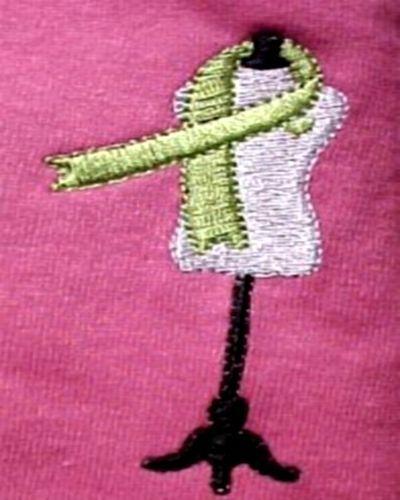 Hot Pink S/S T-Shirt Lymphoma Awareness Lime Ribbon Dress Form Dressmaker 2X image 3