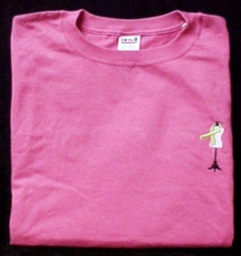 Hot Pink S/S T-Shirt Lymphoma Awareness Lime Ribbon Dress Form Dressmaker 2X image 4