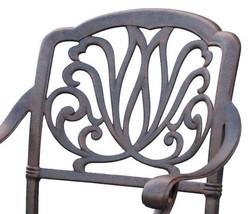Patio dining set 7PC Elisabeth cast aluminum outdoor furniture rust-free Bronze image 4