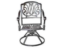 Patio dining set 7PC Elisabeth cast aluminum outdoor furniture rust-free Bronze image 2