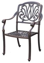 Patio dining set 7PC Elisabeth cast aluminum outdoor furniture rust-free Bronze image 3