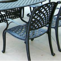 Patio Dining Chair Nassau Cast Aluminum outdoor Furniture Rust Free Bronze image 2