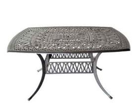 "Patio outdoor Table Elisabeth Cast Aluminum 64"" Square  - Desert Bronze image 2"