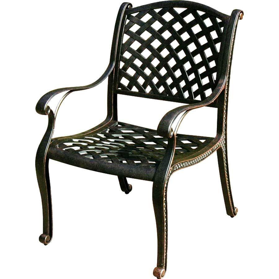 Patio Dining Set 12 Piece Nassau Cast Aluminum Outdoor Furniture Seats 10 Bronze Patio