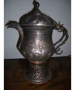 MAGNIFICENT 19TH CENTURY MOGHUL STYLE HIGHLY DETAILED SAMOVAR FROM KASHM... - $600.00