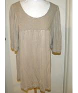 Petals Floral Yoke Short Sleeve Beige Loose Light Comfortable Blouse Top... - $12.99