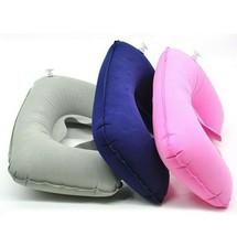 Sale 1PC Headrest Soft U Shaped air pillow Cushion Air Flight Inflatable... - $3.99