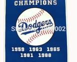 Los Angeles Dodgers World Series Championsh Baseball Banner Flag 3' x 5'  ft