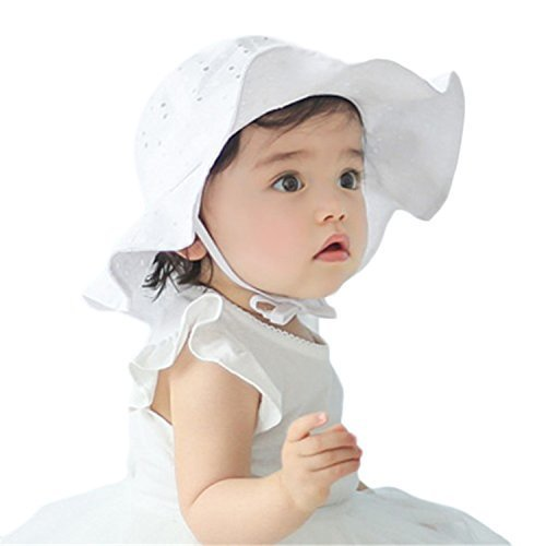 fdb43a672c3 ... Baby Girl Toddler Kids Sun Hat Summer Outdoor Sun Protection Hat 1-4  Years White