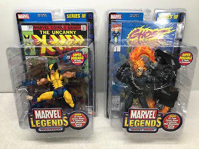 Marvel Legends Series III (3) Set of 5 + Daredevil Figure - Toy Biz 2002 FS