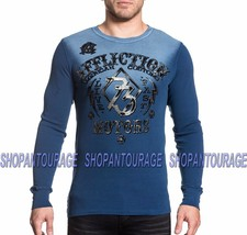 AFFLICTION Live Fast Motors A18019 New Long Sleeve Graphic Thermal Top F... - $55.95