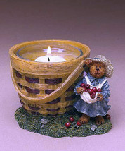 "Boyds Bearstone Votive ""Momma MacIntosh's Apple Basket"" #27738- Candle -NIB-2004 - $23.99"