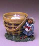 "Boyds Bearstone Votive ""Momma MacIntosh's Apple Basket"" #27738- Candle -... - $23.99"