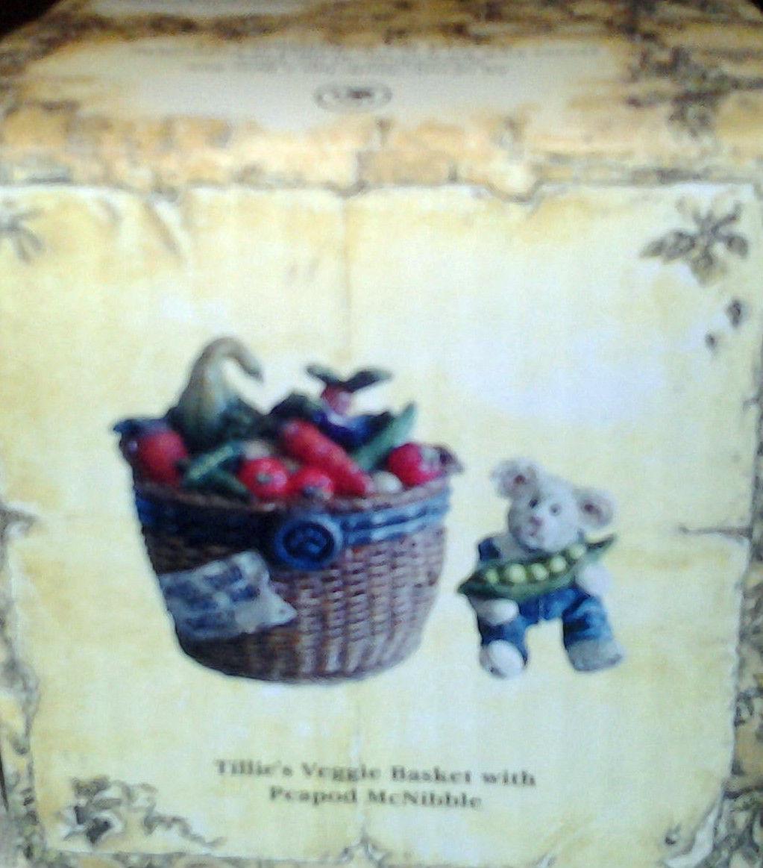 "Boyds Bears Treasure Box ""Tillie's Veggie Basket w/Peapod McNibble"" #392132-NIB"
