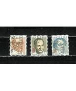 SLOVAKIA  # 163 - 165  * FAMOUS MEN * - $1.19
