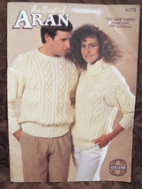 Sirdar Aran Arran Knit Knitting Patterns Sweaters Cardigans Jackets FAMILY - $9.95