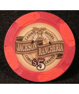 "$5.00 Casino Chip From: ""The Jackson Rancheria"" - (sku#3140) - $2.79"