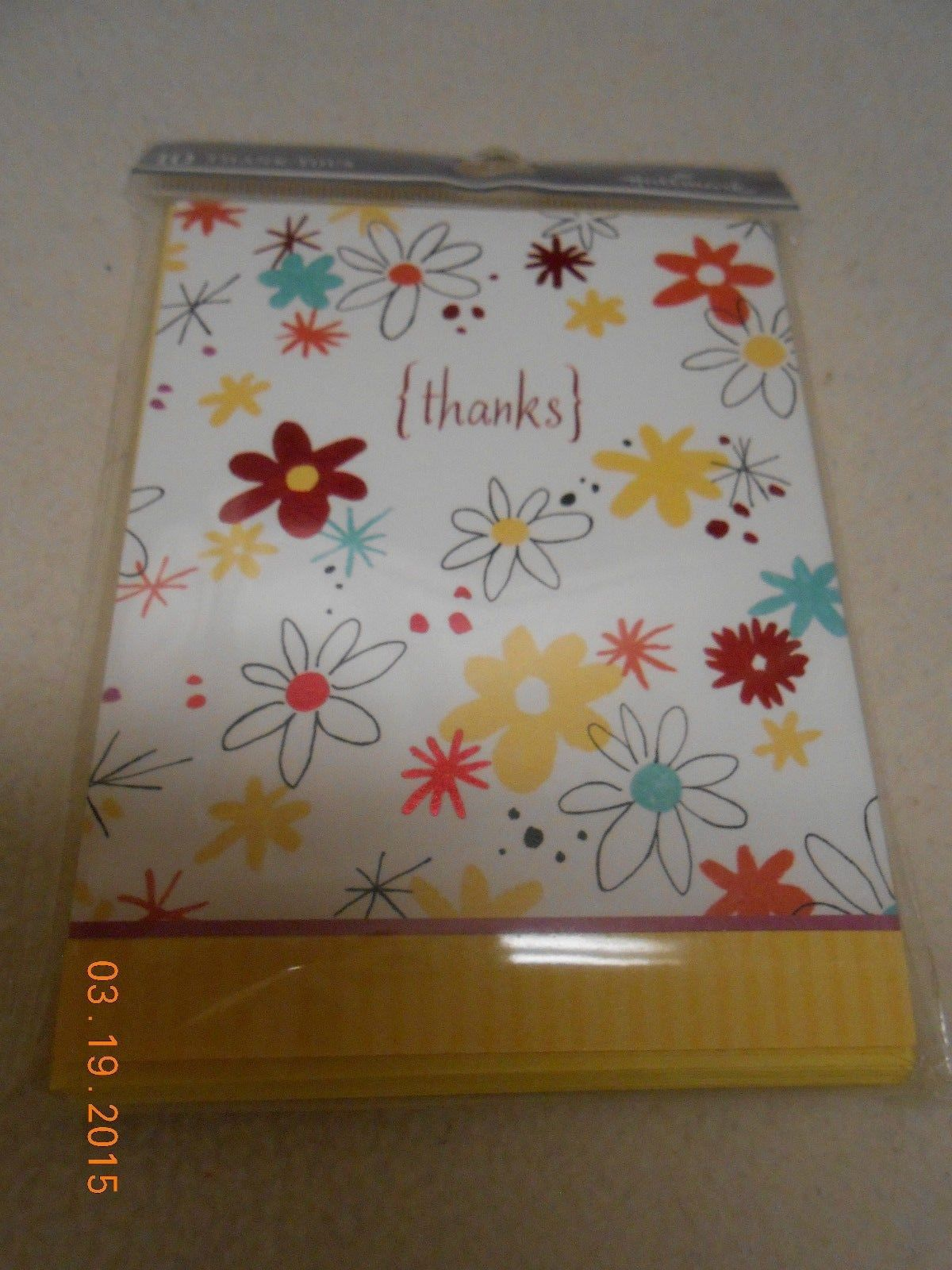 Primary image for NEW LOT PACK 10 HALLMARK THANK YOU NOTE CARDS THANKS FLOWER THEME & MATCHING ENV