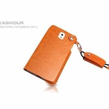 KASHIDUN Hand Rope Synthetic Leather Case for Samsung Galaxy Note 3-Orange  - $19.99