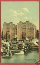 NY NEW YORK Hudson River Hudson Co Buildings Ships BJs - $12.50