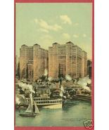 NY NEW YORK Hudson River Hudson Co Buildings Ships BJs - $12.50