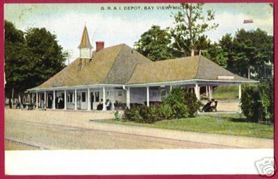 BAY VIEW MICHIGAN GR & I Depot RR Petoskey 1912 MI