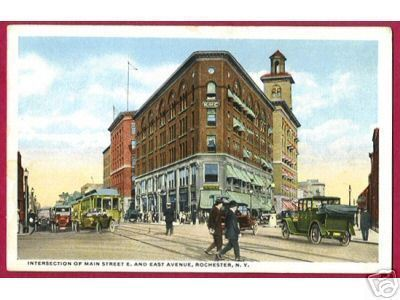 ROCHESTER NEW YORK Main and East Ave Cars K of C 1917