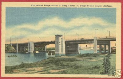 Primary image for St Joesph Benton Harbor MI Postcard Bridge Linen BJs