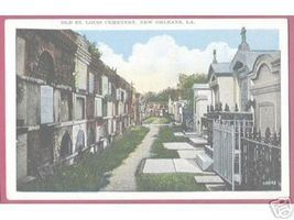 New Orl EAN S Louisiana Old St Louis Cemetery Vintage - $5.00