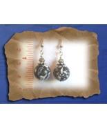 Blue Turkey Turquoise Round Gemstone Earrings - $8.50