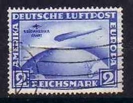 GERMANY 1930 C38 USED ZEPPELIN EUROPA   6867RD - $153.45