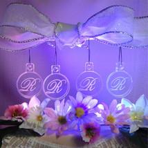 Single Monogram Bridesmaid Christmas Ornaments Mini Miniature Personaliz... - $12.00