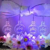 Offset Monogram Bridesmaid Christmas Ornaments Mini Miniature Personaliz... - $12.00
